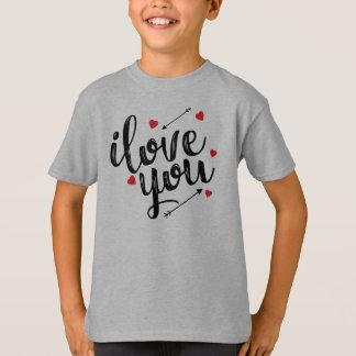 Eu te amo camisa simples de Tagless dos namorados