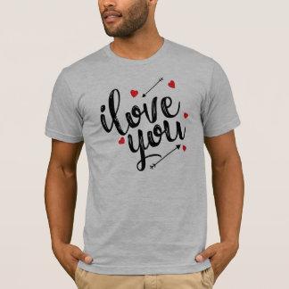Eu te amo camisa simples dos namorados |