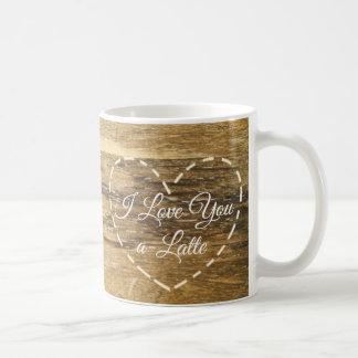 Eu te amo caneca de café doce engraçada de A-Latte