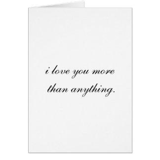 """""""Eu te amo"""" cartão"""
