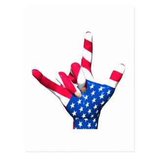 Eu te amo cartão da bandeira dos EUA Cartoes Postais
