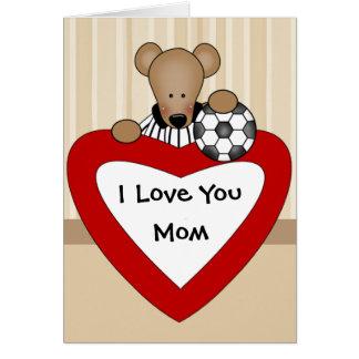 Eu te amo cartão da mamã