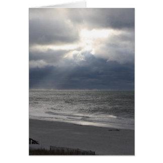 EU TE AMO cartão da praia