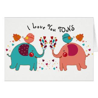 Eu te amo cartão das TONELADAS