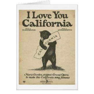 Eu te amo cartão de Califórnia