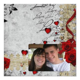Eu te amo cartão de cumprimento da foto convites