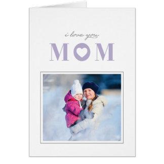 Eu te amo cartão do dia das mães - cardo cartão comemorativo