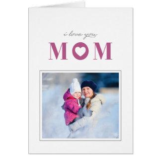 Eu te amo cartão do dia das mães - Mulberry Cartão Comemorativo