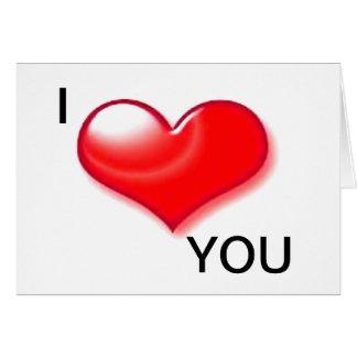 Eu te amo cartão do dia de são valentim do coração