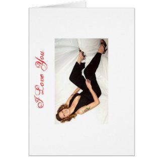 Eu te amo/cartão dos namorados cartão comemorativo