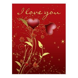 Eu te amo cartão - Effection que mostra o cartão Cartão Postal