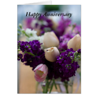 Eu te amo cartão floral do aniversário