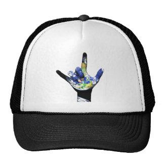 Eu te amo chapéu da terra do planeta boné