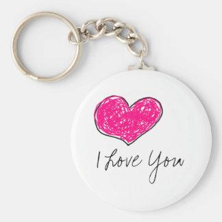 Eu te amo chaveiro