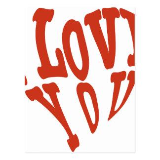 Eu te amo coração cartão postal