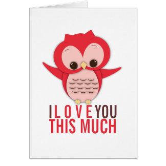 Eu te amo este muito cartão da coruja