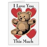 Eu te amo este muito - urso cartoes