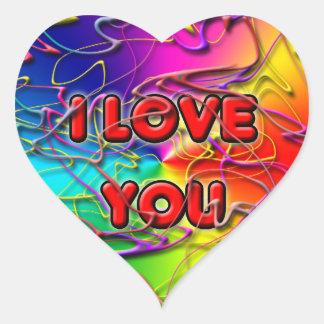 Eu te amo etiqueta