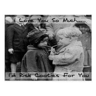 Eu te amo, eu arriscaria o cartão de Cooties
