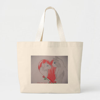 Eu te amo gatos bolsa para compra