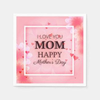 Eu te amo guardanapo do dia das mães | da mamã