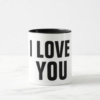 eu te amo ideia romântica do presente da caneca de