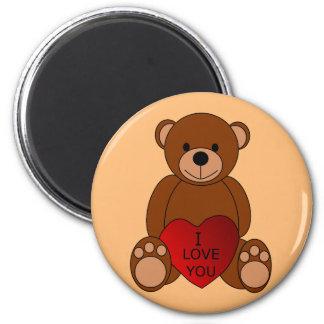 Eu te amo ímã do urso ímã redondo 5.08cm