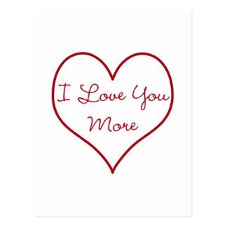 Eu te amo mais cartão postal
