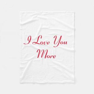 Eu te amo mais cobertor de velo