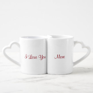 Eu te amo mais conjunto de caneca de café