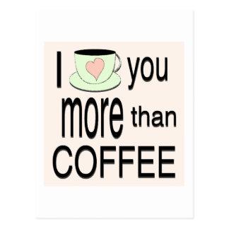 Eu te amo mais do que o cartão do café