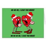 Eu te amo mais Natal Cartões