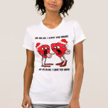 Eu te amo mais Natal T-shirts