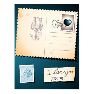 Eu te amo mamã, cartão