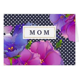 Eu te amo, mamã. O primavera floresce cartões do