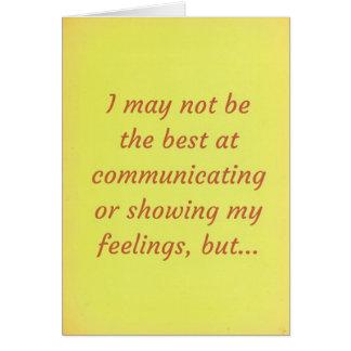 Eu te amo! Mensagem da desculpa da relação Cartão Comemorativo