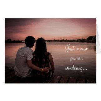Eu te amo muito, o cartão romântico do casal