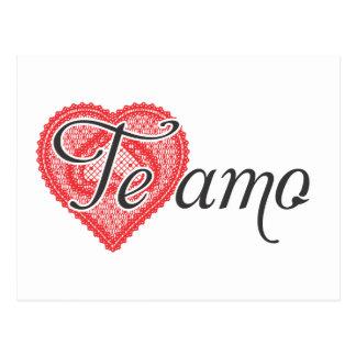 Eu te amo no espanhol - Te amo Cartão Postal