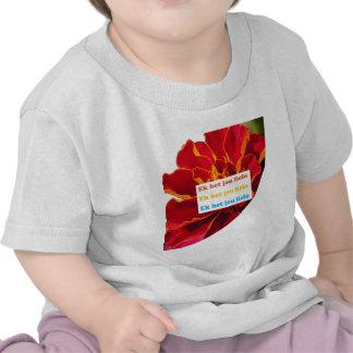 EU TE AMO - no holandês sul-africano:  Cultura da  T-shirt