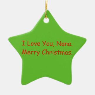 """Eu te amo, ornamento do Feliz Natal de Nana"""