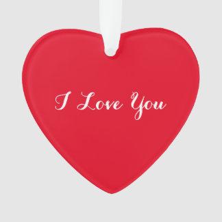 Eu te amo ornamento feito sob encomenda do coração