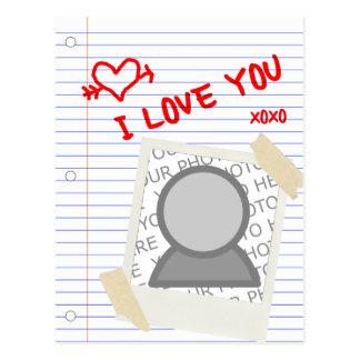 eu te amo papel cartão postal