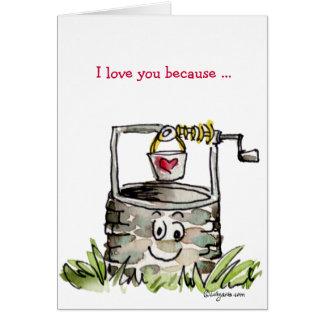 Eu te amo porque… Cartão dos namorados dos