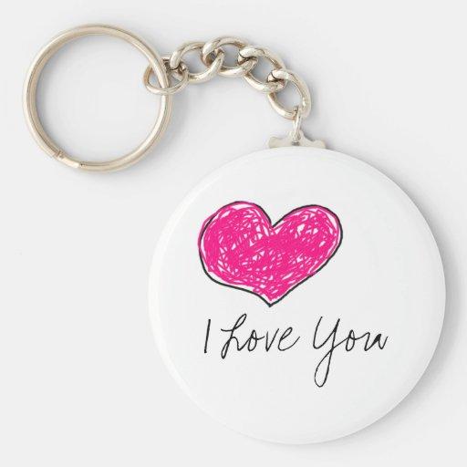 Eu te amo chaveiros