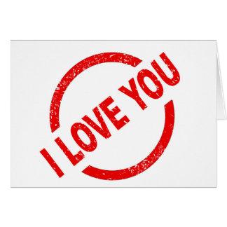 Eu te amo selo cartão comemorativo