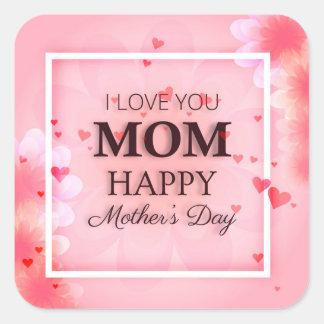 Eu te amo selo da etiqueta do dia das mães da mamã
