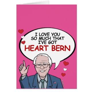 Eu te amo tanto I've obteve o coração Berna Cartão