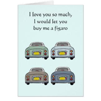 Eu te amo tanto o cartão dos namorados de Nissan