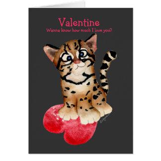 Eu te amo um cartão escuro dos namorados do Ocelot