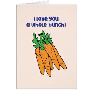 Eu te amo um grupo inteiro - cartão do amor da